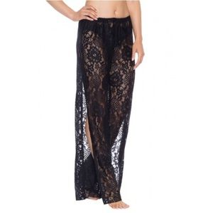 Becca Rebecca Virtue Lace Side Slit Pant Cover Up